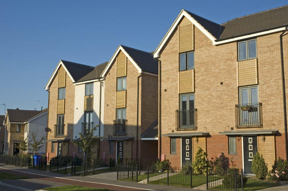 Apartments brown brick
